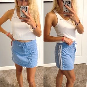 Vintage blue with white stripes comfy skirt